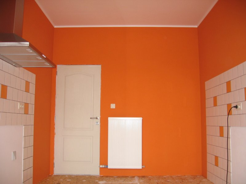 Ремонт кухни. Стены, пол, электрика. 073