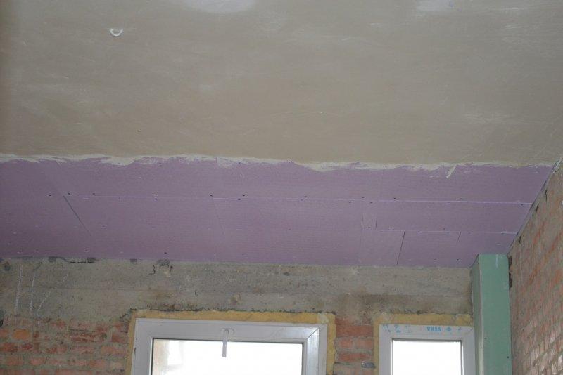 Ремонт на кухне. Потолок. 008