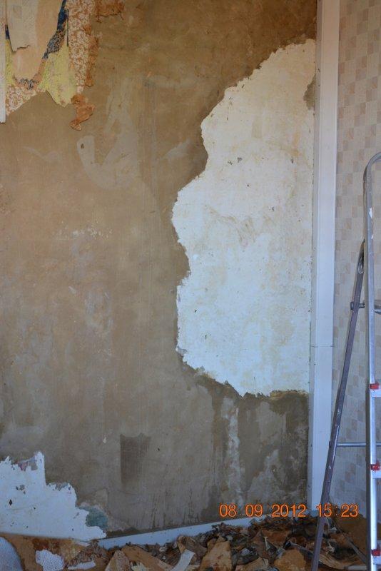 Ремонт спальни  1. Стены, пол, электрика. 007
