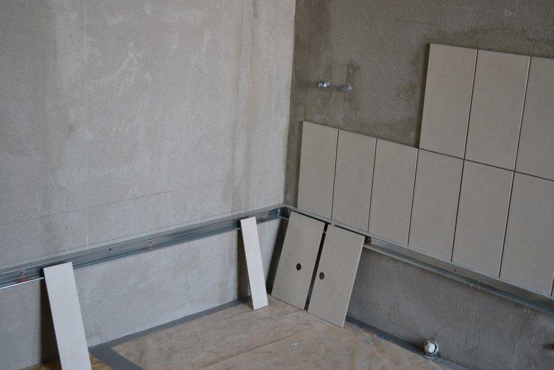 Ремонт ванной комнаты. Пол и стены. 018