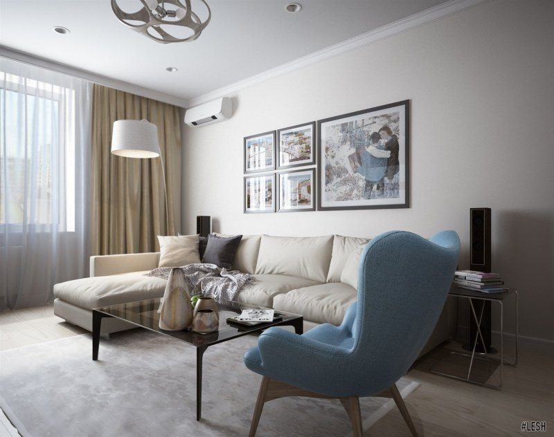 Современная уютная гостиная | Tribuca 100 м.