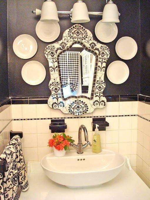 Декорирование зоны умывальника в ванной комнате
