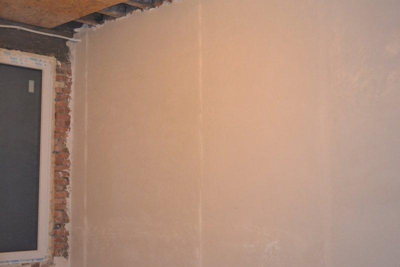 Ремонт спальни  1. Стены, пол, электрика. 027