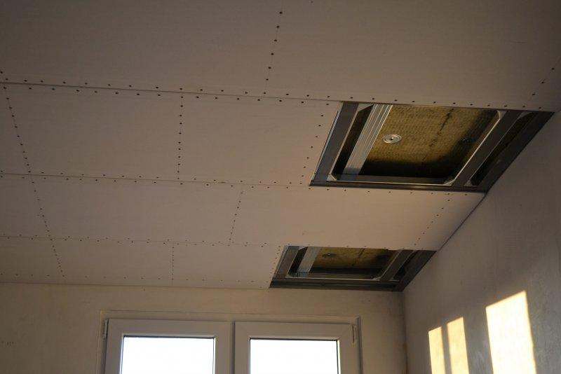 Ремонт спальни 1. Потолок 046