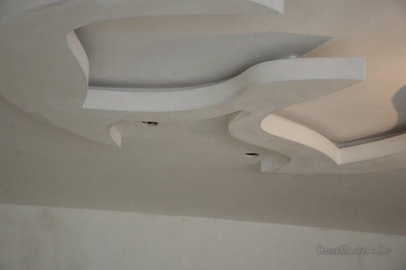 Цветок  на потолке из ГКЛ   элемент