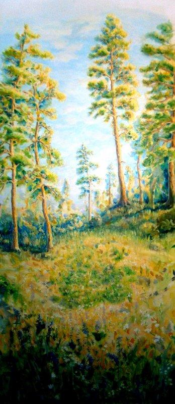 Роспись стен, лес