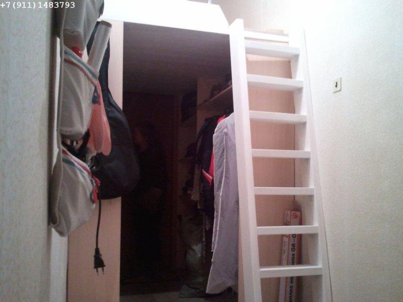 встроенные шкафы под второй ярус