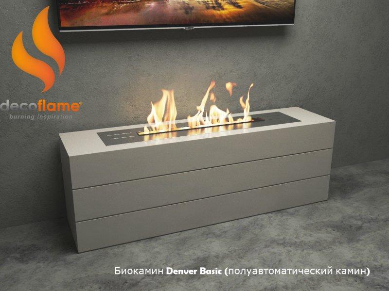 Полуавтоматический биокамин Decoflame  Denver Dasic Fire