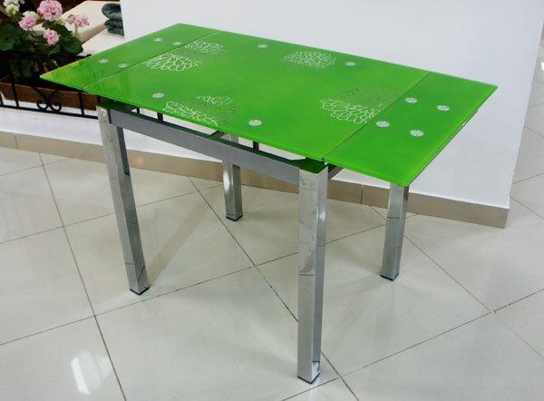 Стеклянный раскладной стол Анжелика