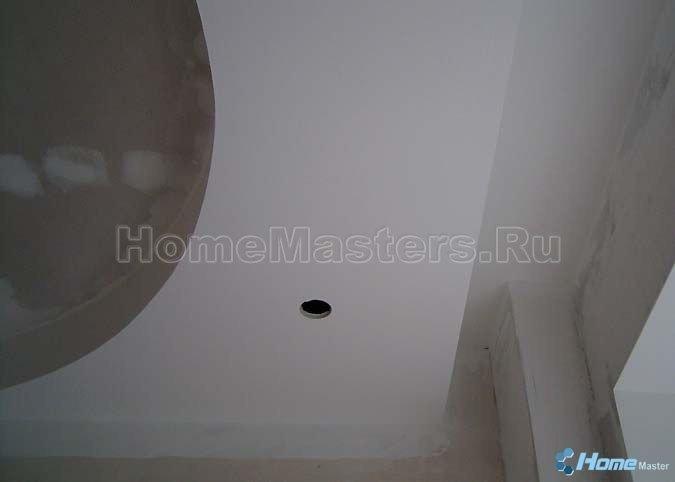 0019 зашпаклеванный потолок