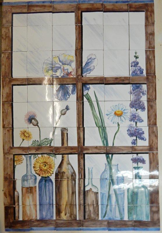 """Панно """"Цветы в окне"""""""