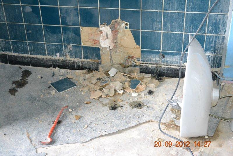 Ремонт ванной комнаты. Пол и стены. 007