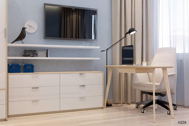 Рабочее место в спальне | Butlerova - 69м.