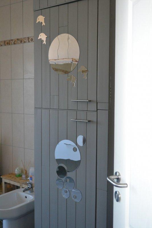 Шкаф в ванной комнате. 024