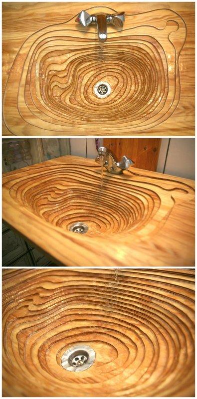 Деревяный умывальник