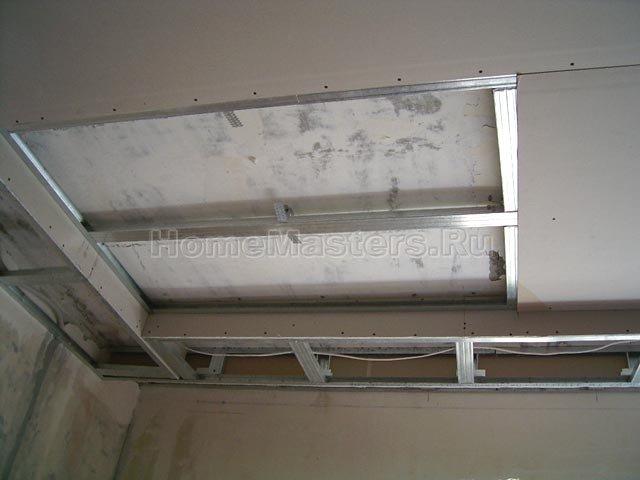 041a обшиваем потолок гкл