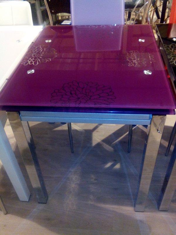 Обеденный стол Анжелика фиолетовый