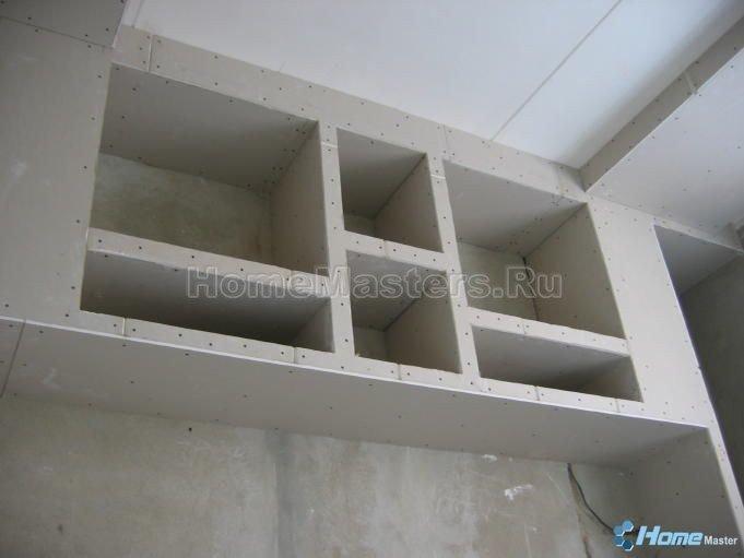 012 шкаф ГКЛ этап работы