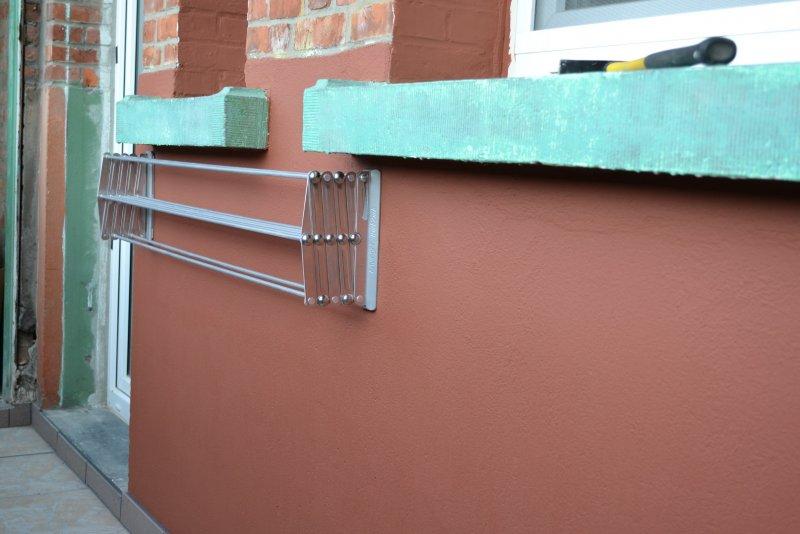 Ремонт балкона. Пол и стены. 046