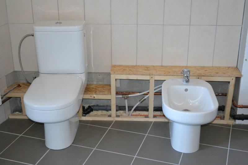 Ремонт ванной комнаты. Пол и стены. 033