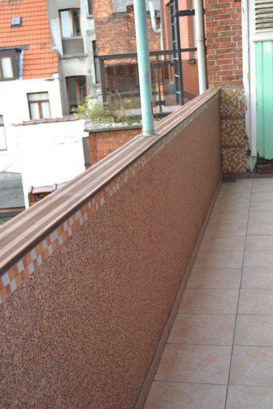 Ремонт балкона. Пол и стены. 036