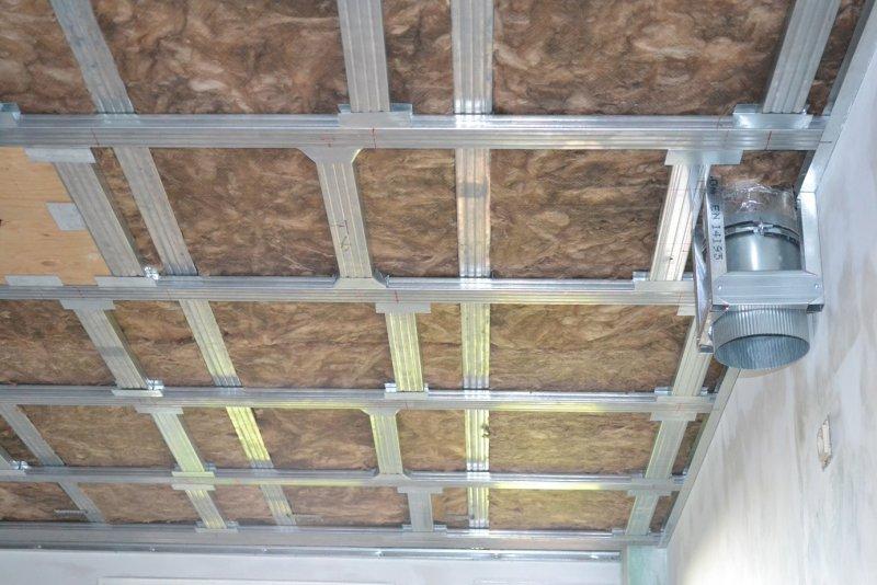 Ремонт на кухне. Потолок. 016