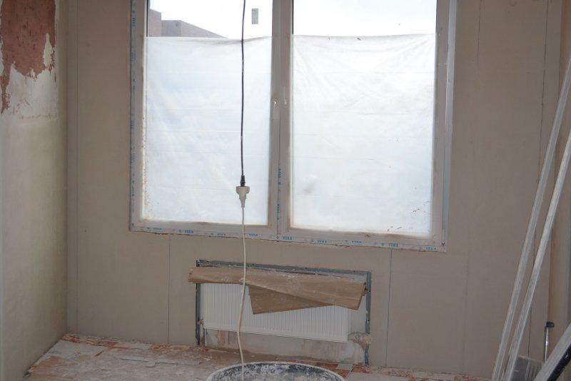 Ремонт спальни 2. Пол и стены. 018