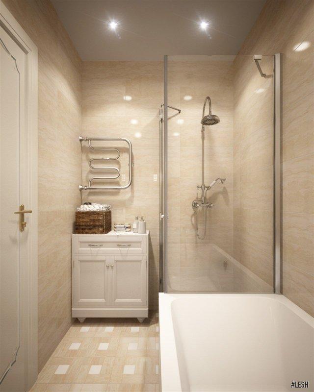 Душевая кабина в ванной