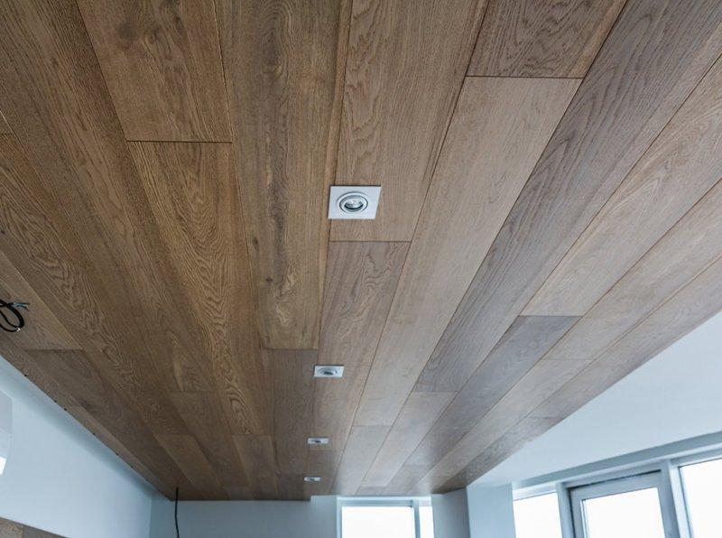 Ремонт и отделка частного дома (потолок, точечные светильники)