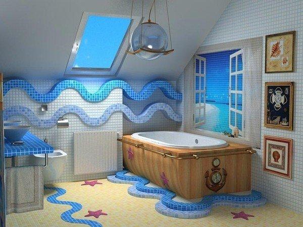 Морская ванная комната