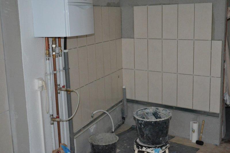 Ремонт ванной комнаты. Пол и стены. 022