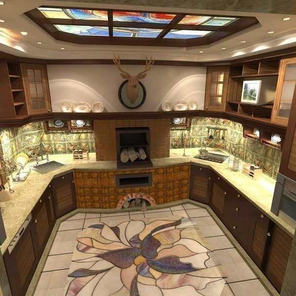 Кухня с оленем