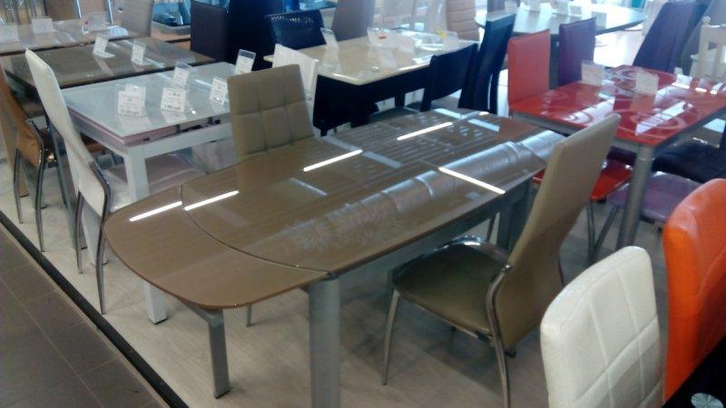 Раздвижной стеклянный стол Джорджия