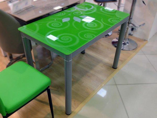 Кухонный стол Суфле зеленый