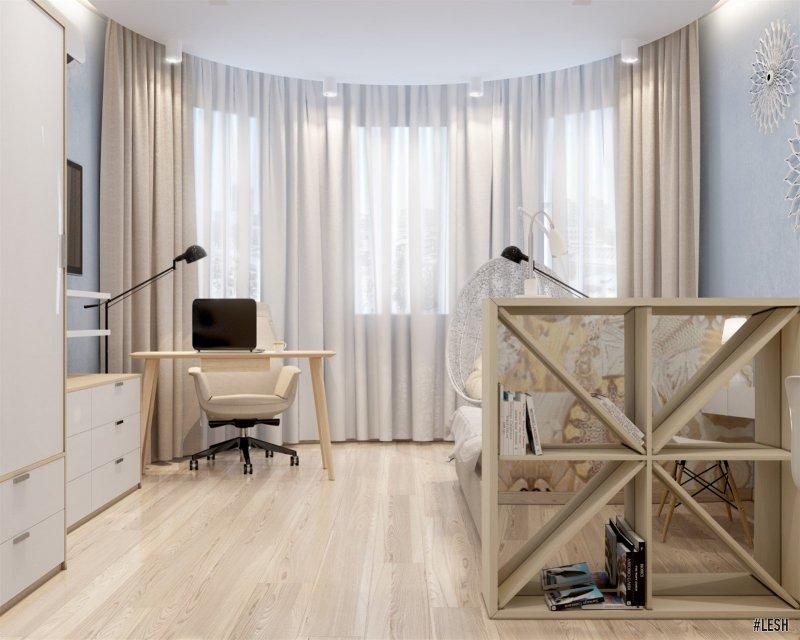 Дизайн спальни с эркером | Butlerova - 69м.