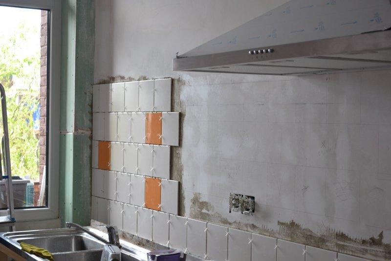 Ремонт кухни. Стены, пол, электрика. 049