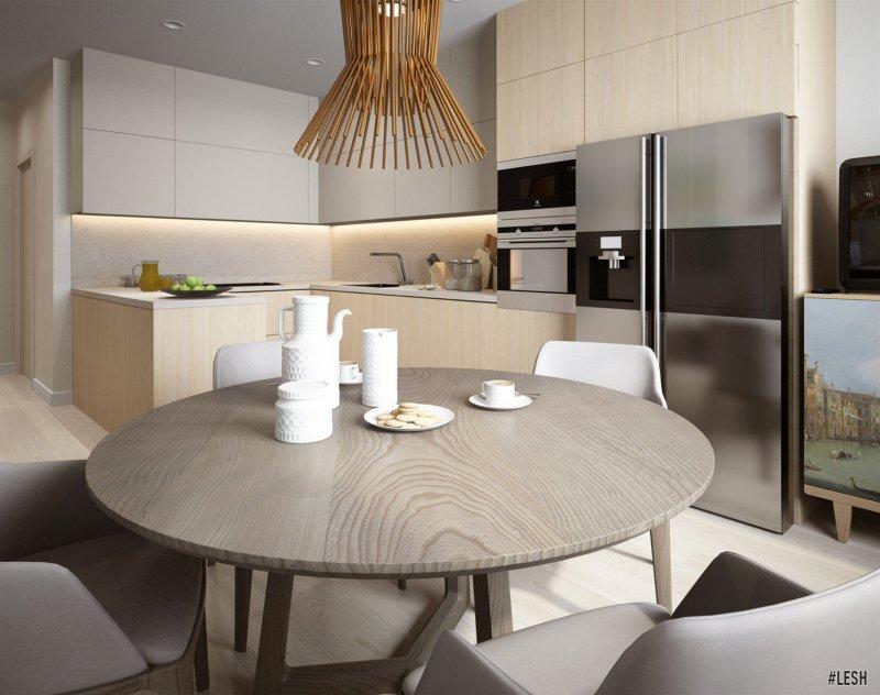 Современная светлая кухня | Tribuca 100 м