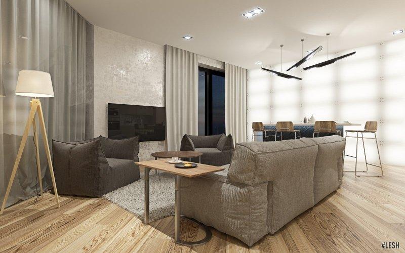 Дизайна интерьера апартаментов Кристалл в Репино