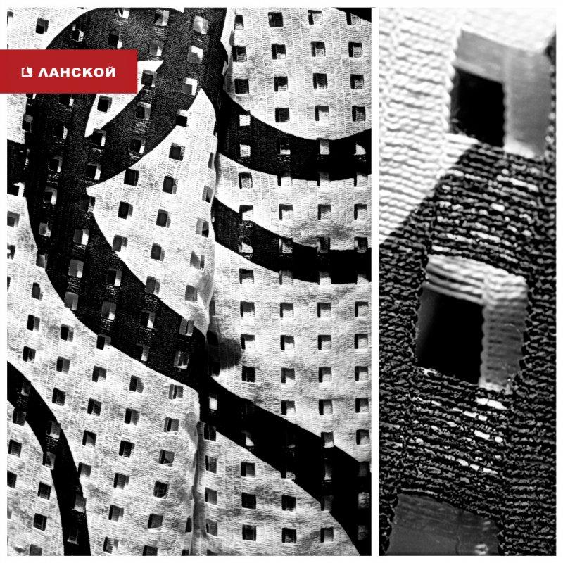 черно-белый текстиль для интерьера в тк ланской
