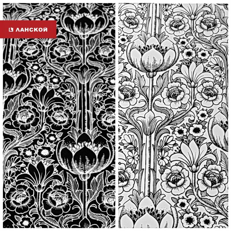 обои для черно-белого интерьера в тк ланской