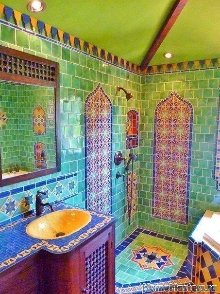Яркая ванная в марокканском стиле