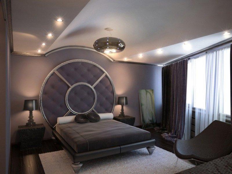 Кровать с круглым изголовьем