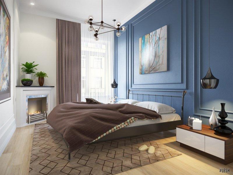 Спальня в стиле эклектика   Novocherkasskiy - 63м.