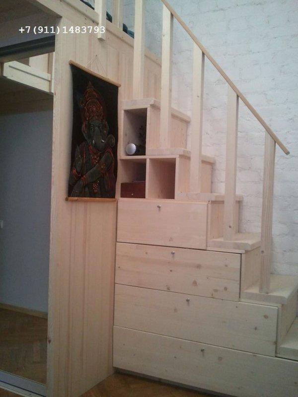 2 ярус - лестница полки фото