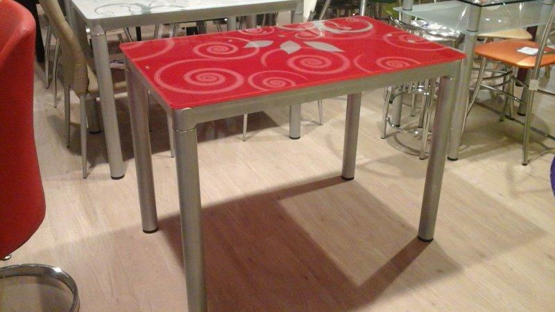 Обеденный стол Суфле красный