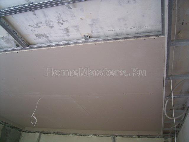040a обшиваем потолок гкл