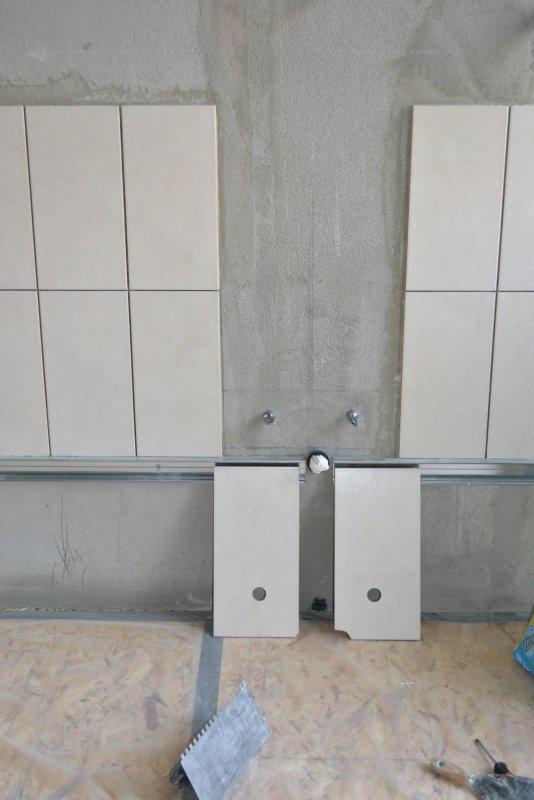 Ремонт ванной комнаты. Пол и стены. 019