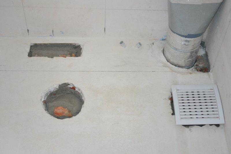 Ремонт кухни. Стены, пол, электрика. 033