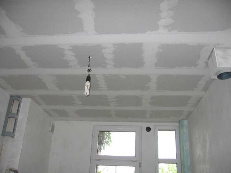 Ремонт на кухне. Потолок. 023