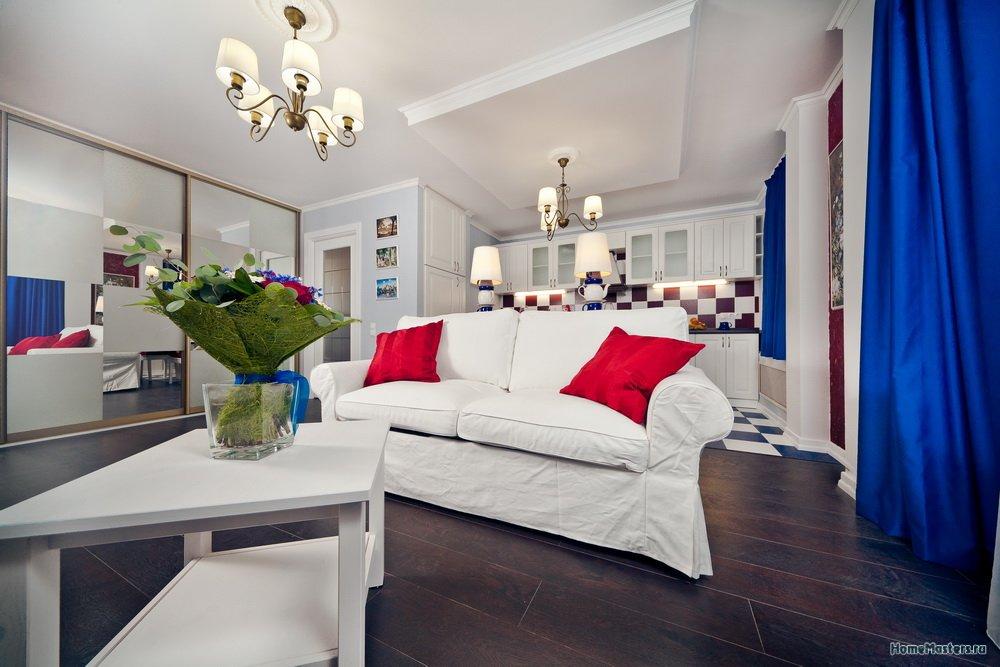 Дизайн проект и ремонт квартиры студии